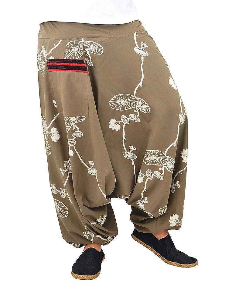 virblatt Pantaloni alla Turca Donna Pantaloni Etnici Larghi Donna Harem Pants Yoga Halluzination