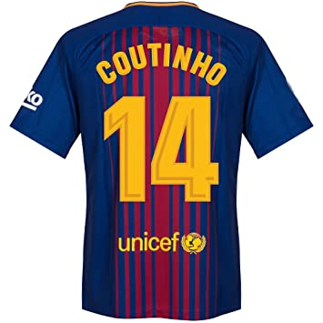 cheap for discount 34226 52d47 Amazon.com : Barcelona Home Coutinho 14 Jersey 2017 / 2018 ...