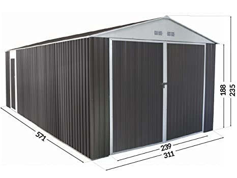 Habitat Et Jardin Garage Metal Nevada Avec Porte Battante