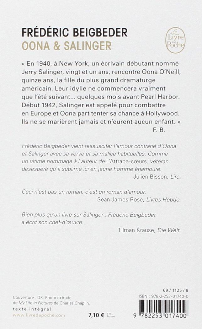 Oona Salinger Littérature Amazones Frédéric Beigbeder