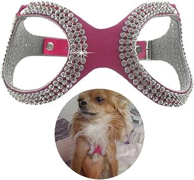 PENVEAT - Arnés de Piel sintética para Perro o Mascota, Accesorios ...