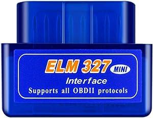 obdator Mini Bluetooth OBD2 Scanner ELM327 Automotive OBD OBDII Code Reader Car Check Engine Light Diagnostic Scan Tool for Android PC