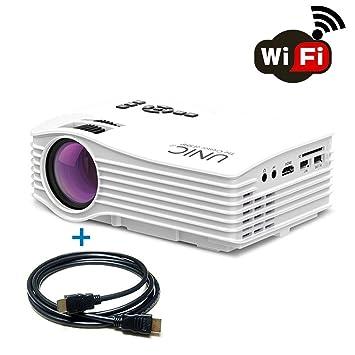 Weton LCD Mini portátil HD 1080P LED Multimedia Proyector, 1500 ...