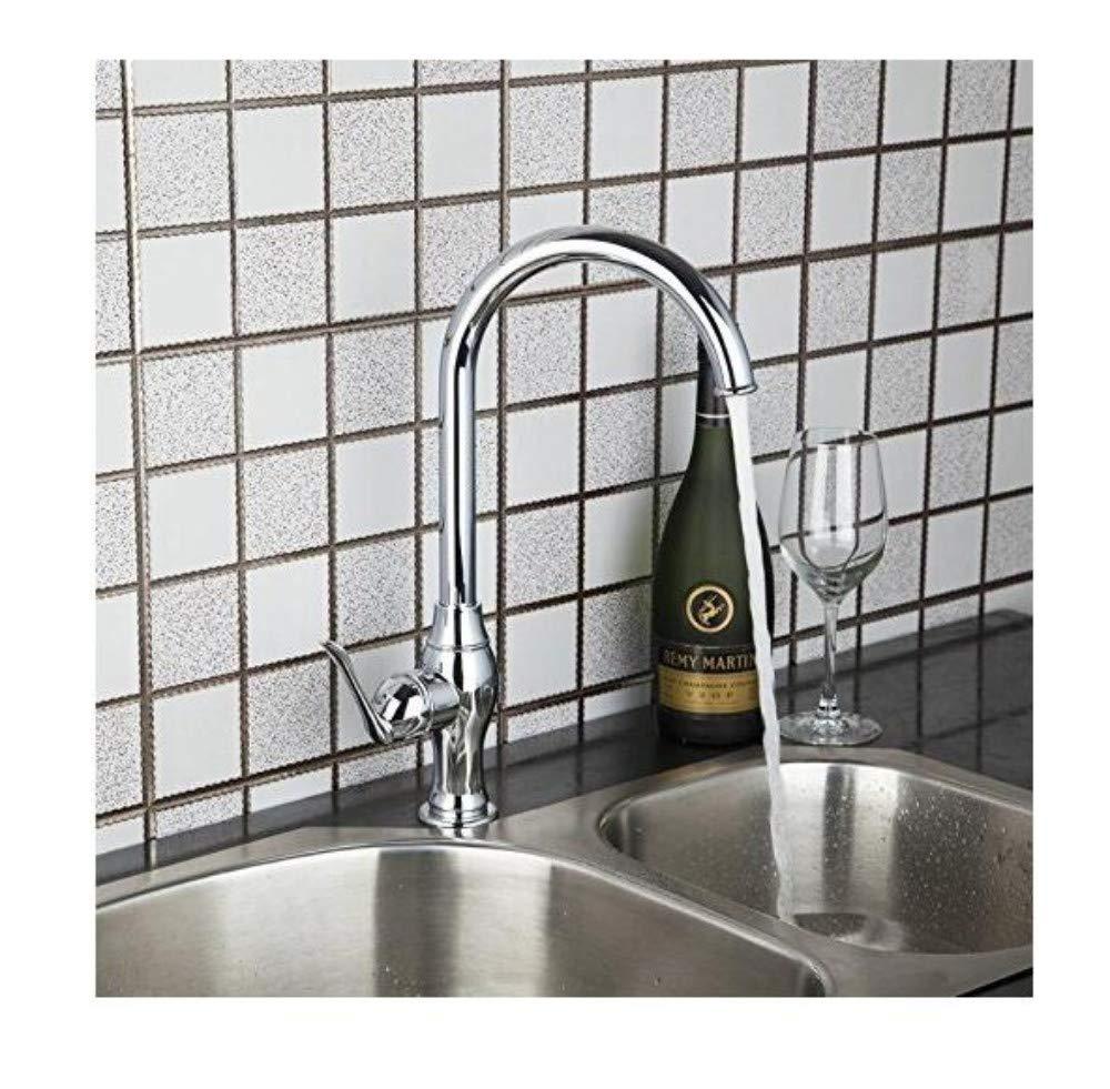 Luxuriöser Vintage-Wasserhahnmischer Küchenhahn-Schwenker-Hahn Des Einzelnen Messing-Einzigen Handgriff-Einzelnen Lochs-Wannen-Mischbatterien