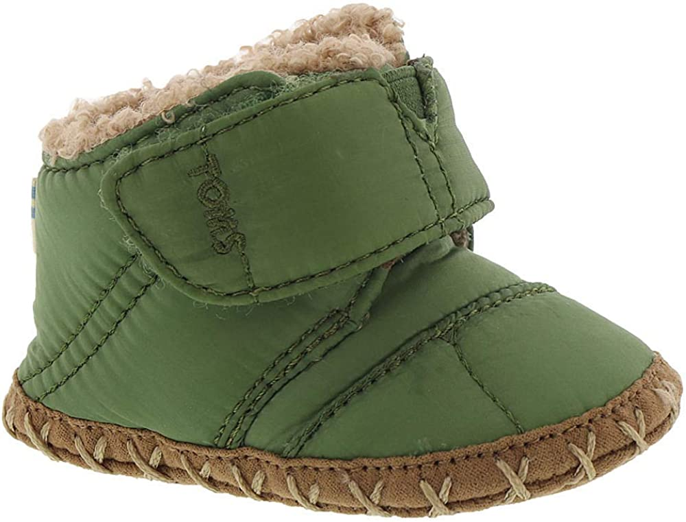 TOMS Infant Boys Cuna Boots - Green - Size 4 M