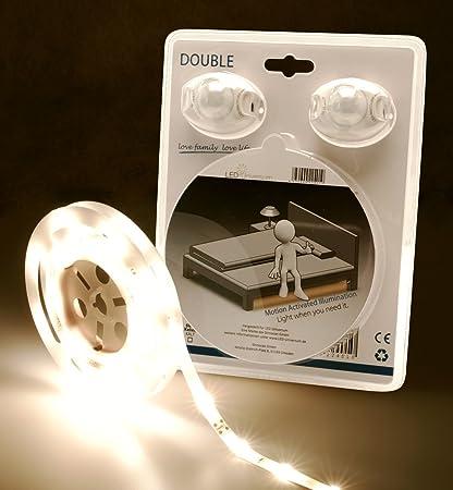 LED Universo LED cama iluminación Blanco Cálido para una cama de matrimonio con sensor de movimiento