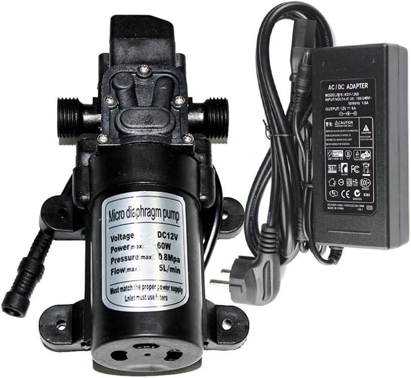 23.5feet Misting System 7.1m with EONBON 12V 5.0 L//min Self Priming RV Booster Sprayer Pump Micropump for RV Camper Marine Boat Lawn