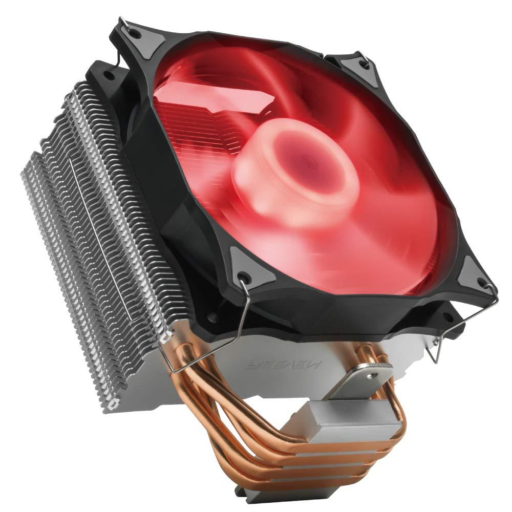 Reeven E12 RGB 120mm Air CPU Cooler, Tower Heatsink with Dir