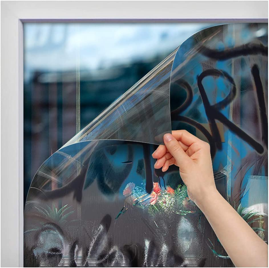 24in X 50ft BDF AG4M Window Film Graffiti Protection 4 Mil Clear
