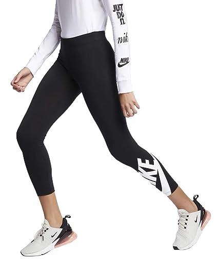 1789e6552e975 Amazon.com : Nike Womens Leg-A-See Futura 7/8 Legging Black/White  AR3507-010 Size Small : Sports & Outdoors