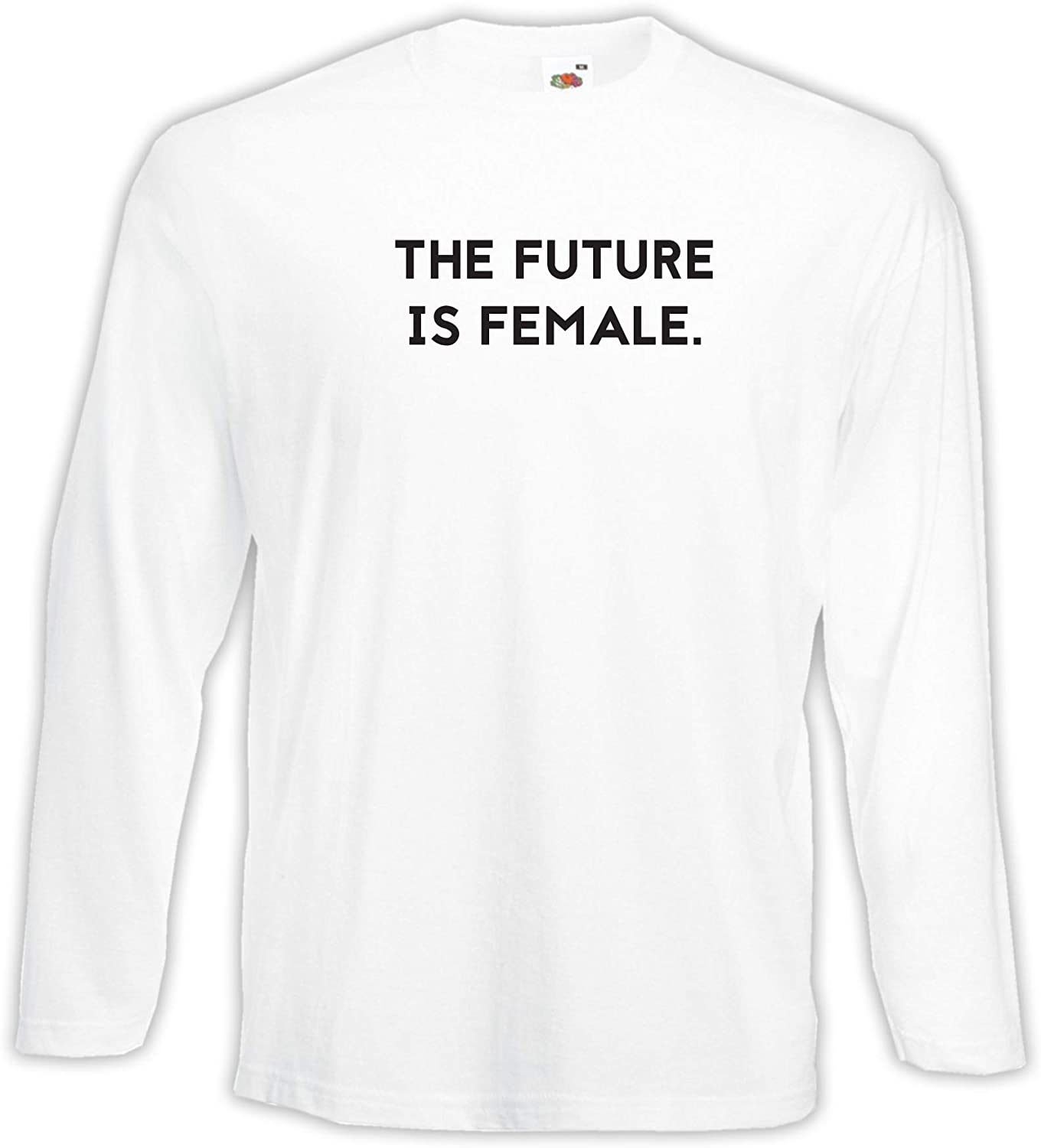 Settantallora - Camiseta de Manga Larga J3895 The Future Is Female Retro Vintage: Amazon.es: Ropa y accesorios