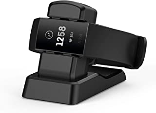 Supporto per Caricabatterie MASCARR Fitbit Charge 3, Supporto di Ricarica di Ricambio Base di Ricarica Supporto per Adattatore Dock Compatibile per Fitbit Charge 3 MASCARRY