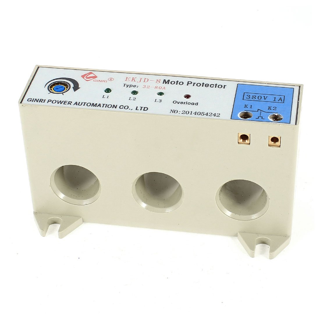 uxcell EKJD-9 3 Phase 32-80 Ampere Adjustable Current Motor Circuit Protector AC24-380V by uxcell (Image #1)