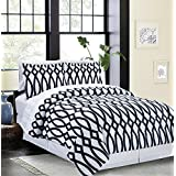 Iron Gate 8-piece Bed in a Bag Set Black & White (Double/Full)