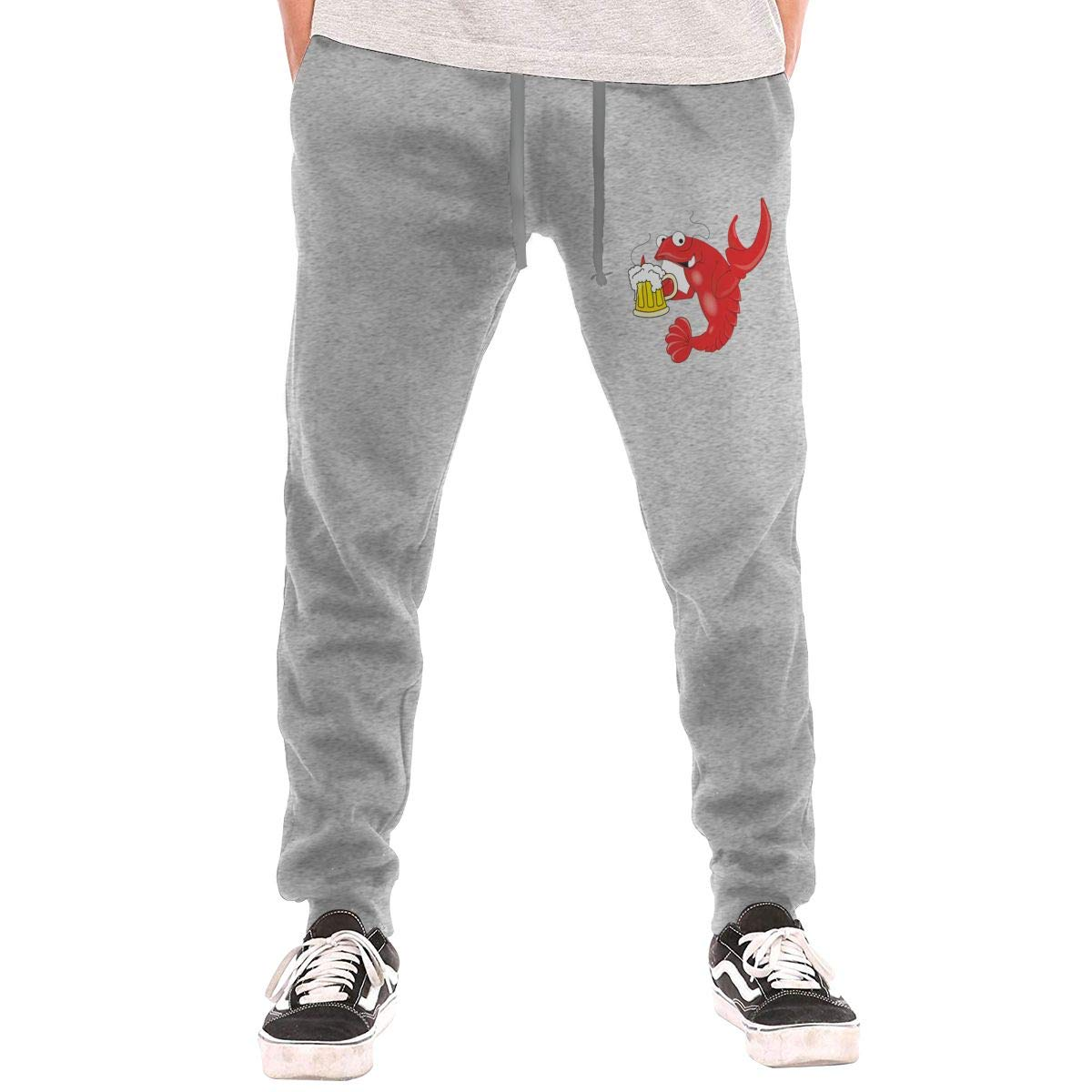 Numik Crawfish Beer Drawstring Waist,100/% Cotton,Elastic Waist Cuffed,Jogger Sweatpants