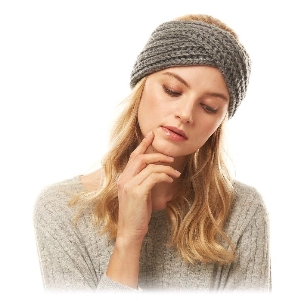 Women/'s Winter Headbands Chenille Headbands Winter Chenille Ear Muff Headband