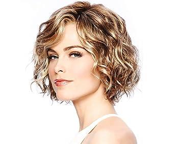 Yemocile Weiblich Kurze Lockige Haare Gold Stilvoll Schick Kunstlich