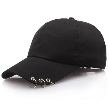 Llxln Hombres Y Mujeres/Gorra Hat Ring Hat Gorras Planas ...