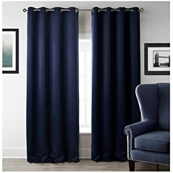 Comfysail Extra Long Thermal Insulated Top Ring Blackout Curtains For  Bedroom, Living Room, Balcony
