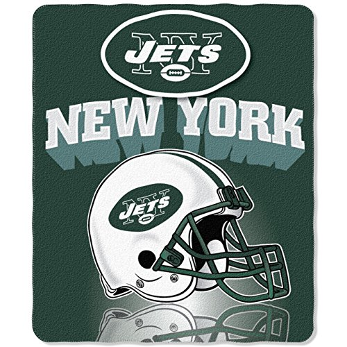 The Northwest Company NFL New York Jets Gridiron Fleece Throw, 50-inches x 60-inches