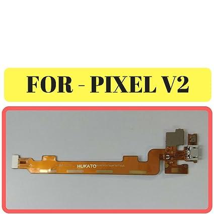 (HUKATO) Multicolour Charging Board Flex Cable Ribbon Connector for Lava  Pixel V2