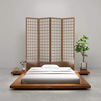 watch 5f71e e8e26 Vislone Japanese Style Futon Bed Frame Low bed Frame Morden ...