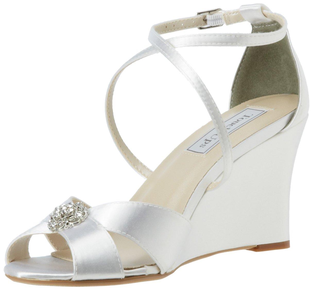 Touch Ups Women's Mickey Wedge Sandal B009P4FZRK 10.5 B(M) US White Satin