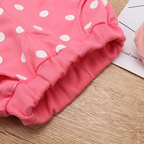 MH-Lucky Baby Girl Clothes Infant Outfits Set 2 Pieces With Long Sleeved Tops + Pants (3-6 Months, Pink)