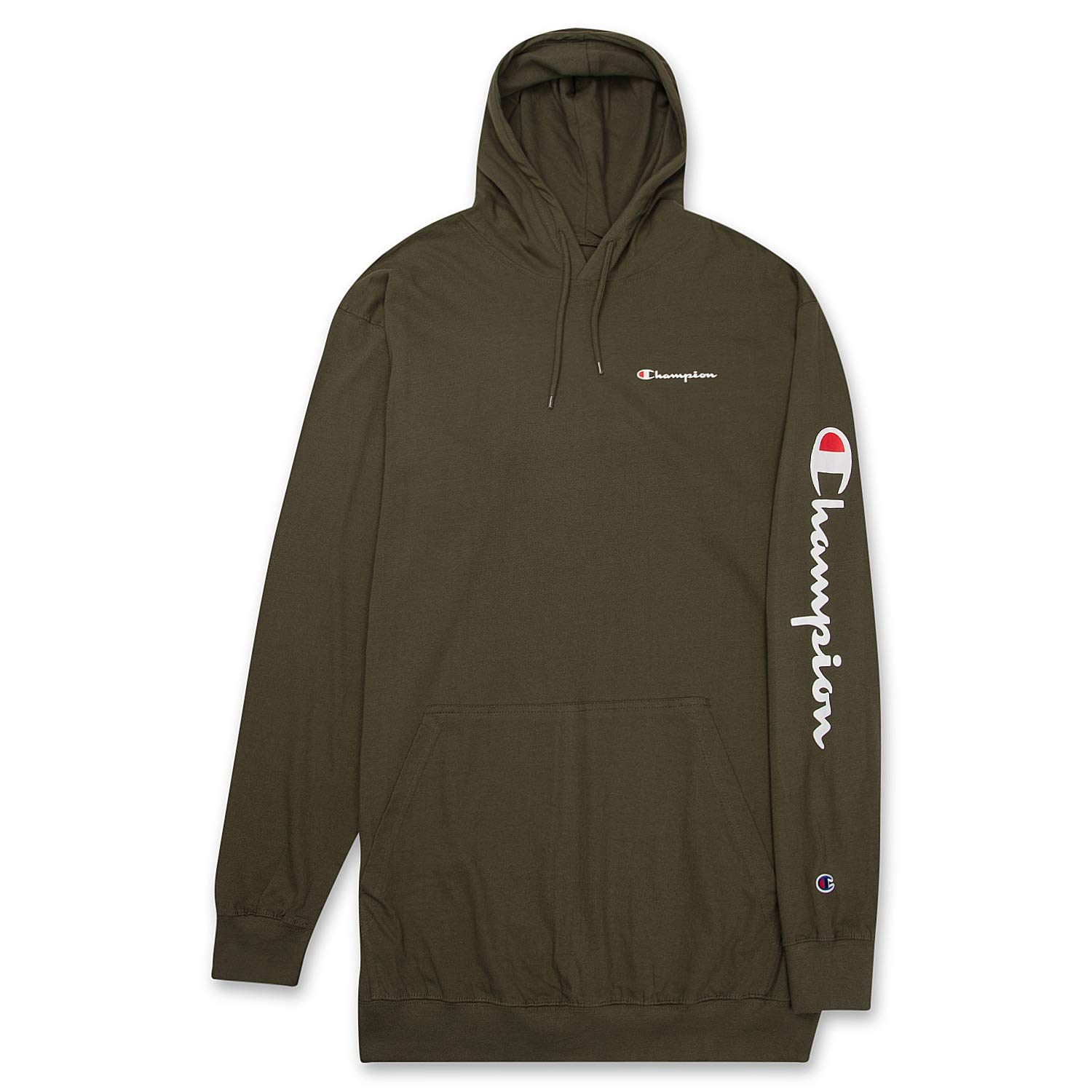 Champion Mens Big and Tall Long Sleeve Pullover Jersey Lightweight ...