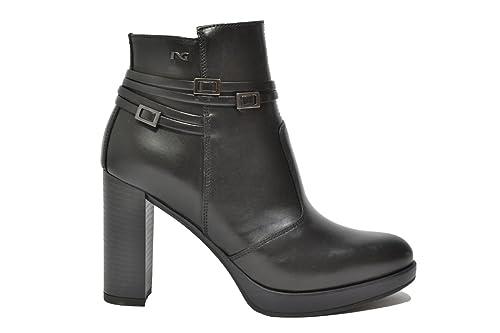 NERO GIARDINI Tronchetti scarpe donna cuoio 9143 mod. A719143D