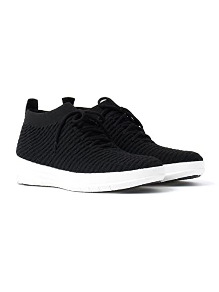 FitFlop Uberknit Slip On High Top Sneaker - All Black 6 UK ZqhJWGRukk