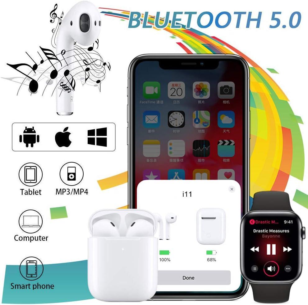 in Ear Bluetooth 5.0 Headset 3D Stereo-Minikopfh/örer Sport Kabellose Kopfh/örer mit Portable Mini Ladek/ästchen f/ür Apple Airpod Android iPhone Bluetooth Kopfh/örer