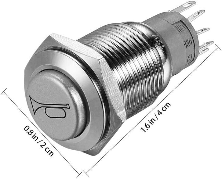 Winomo 12 V 16mm Led Beleuchtung Ein Aus Schalter Reset Schalter Taste Metall Momentary Push Button Horn Schalter Auto Boot Motorrad Diy Schalter Auto