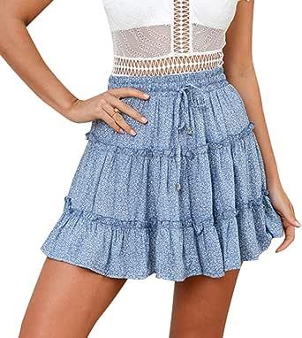 baskuwish Womens Below The Knee Pencil Skirt for Office Wear High Waist Bodycon Pencil Knee Length Midi Skirt