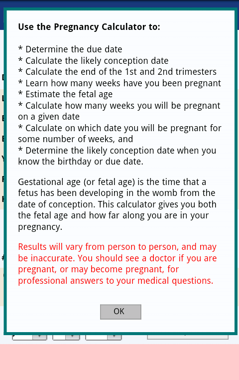 pregnancy from conception date