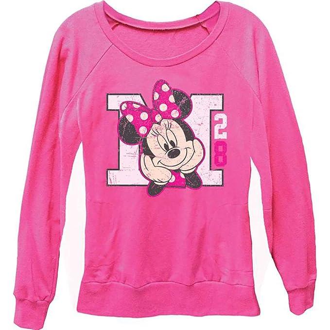 Sudadera con cuello redondo de manga larga para mujer Minnie Mouse M 28 -