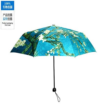Metech 1 Pcs/lots Umbrella Rain Women Ultra Light Three-folding Umbrellas Sunny and