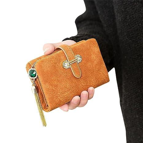 Bolso doble de la caja de la tarjeta de la cartera de Bi-doblez de