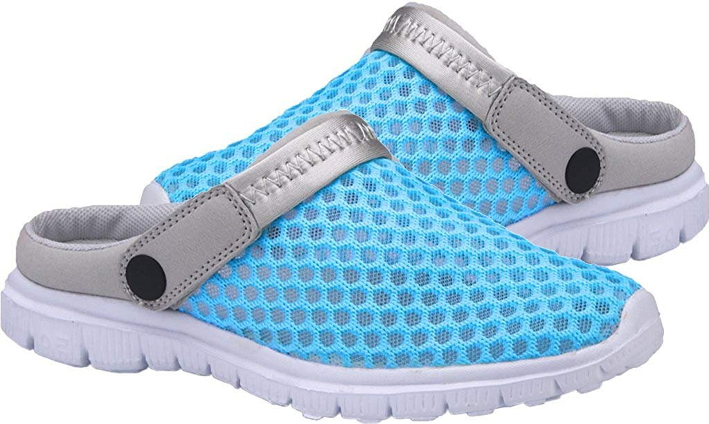 CCZZ Men's Mesh and Women's Summer Breathable Mesh Men's Beach Sandals Slippers Quick Drying Water Shoes Amphibious Slip On Garden Shoes B07C2Y1NW3 US 5.5=EU 35|Green 7ff4fc
