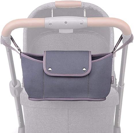 10 en 1 universal para cochecito de bebé con portavasos de material resistente al agua compacto para cochecito de bebé, organizador de accesorios de