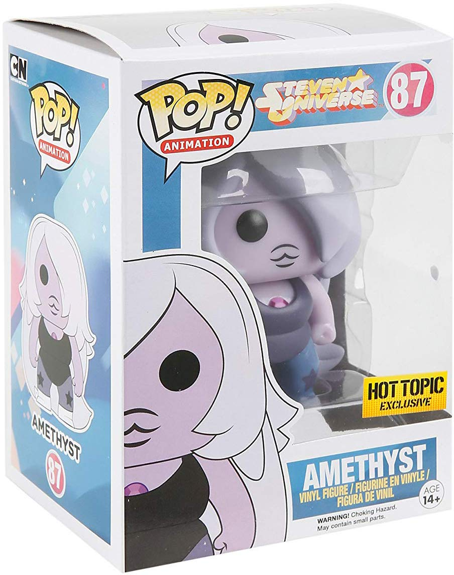 : Steven Universe x POP Animation Vinyl Figure /& 1 PET Plastic Graphical Protector Bundle Glow-in-Dark Funko Amethyst #087 // 09308 - B BCC9403272 Hot Topic Exclusive
