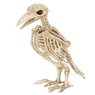 JohnJohnsen Osso Scheletro di Colore Raven100% plastica Ossa Animali Scheletro per Horror Raccapricciante Decorazione di Halloween Forniture per Eventi e Feste (Colore delle Ossa)