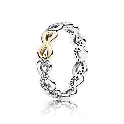 c886f4023 Amazon.com: Pandora Infinite Love Stackable Ring, Clear CZ 190948CZ-58:  Jewelry