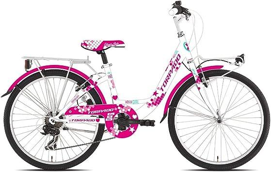 TORPADO - Bicicleta para niña T611 Kelly de 24 Pulgadas, 6 V ...