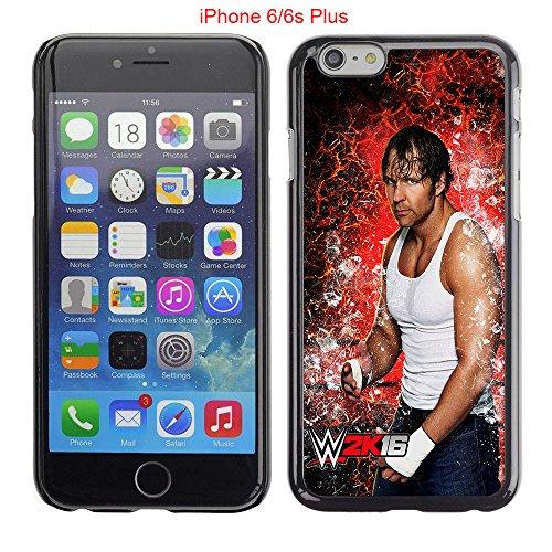 iPhone 6 Plus 6S Plus Case,Dean Ambrose Never Fade Anti Slip Scratchproof Black Hard Plastic Case 5.5inch