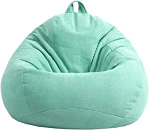 vctops Bean Bag Chair with Removeable Cover for Kids, Teens and Adults Ultra Soft Comfortable Filled Lounge Bean Bag Sofa Chair Mint Green L