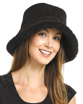 0ebfa79779290 frr Shearling Sheepskin Toronto Hat at Amazon Women s Clothing store