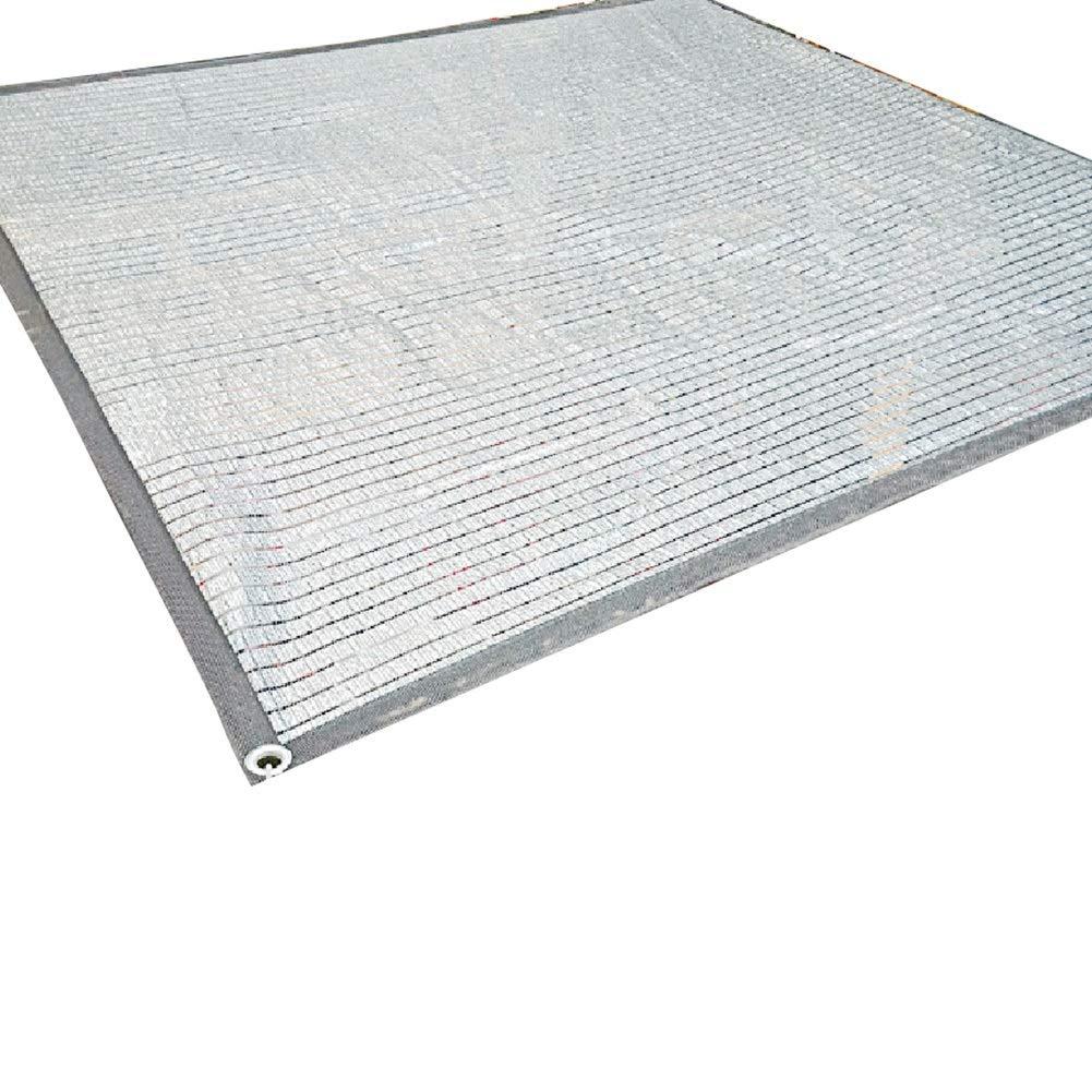 LIANGLIANG-fang shai wang Rete Parasole Serre Antivento Protezione Solare Serra Allevamento Idratante Foglio Alluminio con Fori di Metallo, 22 Taglie (colore   A, Dimensioni   3X7M)