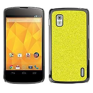 For LG Google NEXUS 4 / Mako / E960 Case , Pattern Grain Bling Rich Yellow - Diseño Patrón Teléfono Caso Cubierta Case Bumper Duro Protección Case Cover Funda