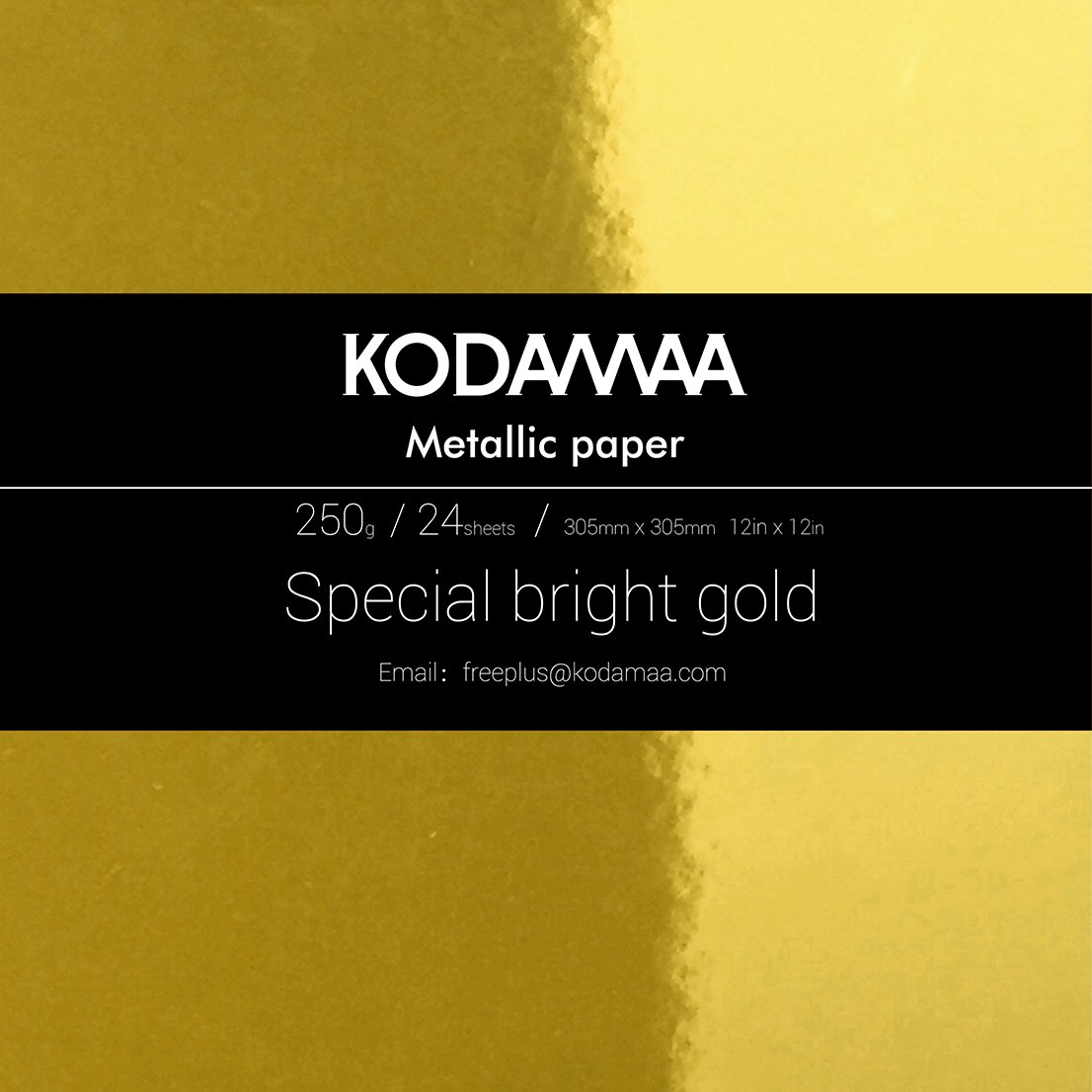 KODAMAA 12'x12' Square Art Craft Gold/Silver Cardstock, Multipurpose Shimmer Metallic Paper Perfect for Festival Crafting, Party Dé cor, Gift Packaging (24 Sheets) 4336981949